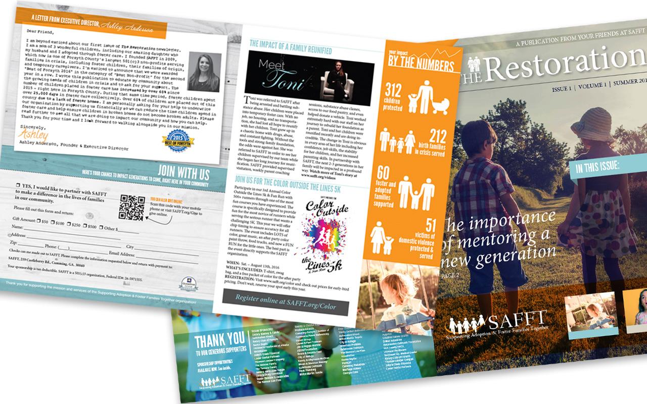 SAFFT Donor Magazine/Newsletter Design